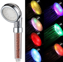 Automatic Color Changing Lighted Shower Heads With Temperature Sensor Shower Head Glow Light LED Anion Health Care