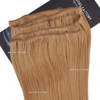 "Beauties Factory 20"" Straight Remy Human Hair Extensions Weft 100g #27 Honey Blond"