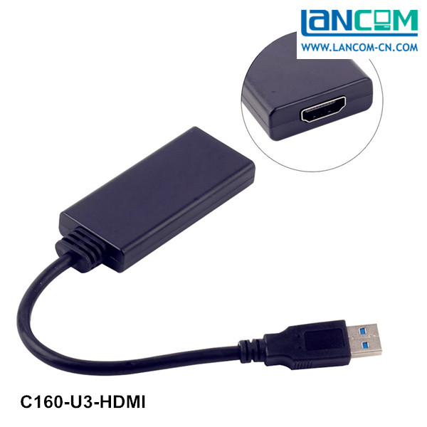 Blue Transmits HDMI Fiber Optic Cable With 1080P To USB 3.0 Converter