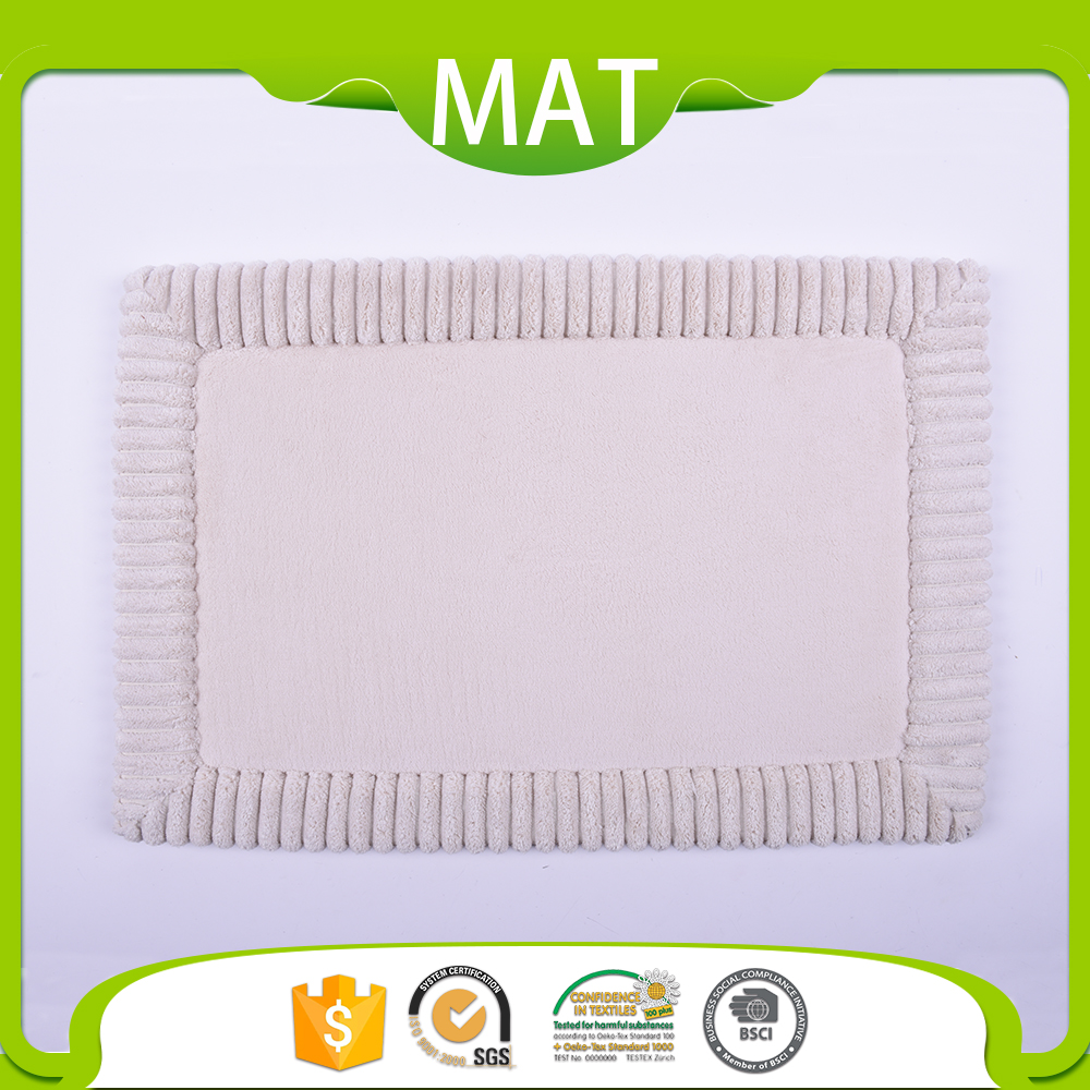 Unique Shower Room Flooring Blank Sponge Patterned Anti Skid Bath Mat