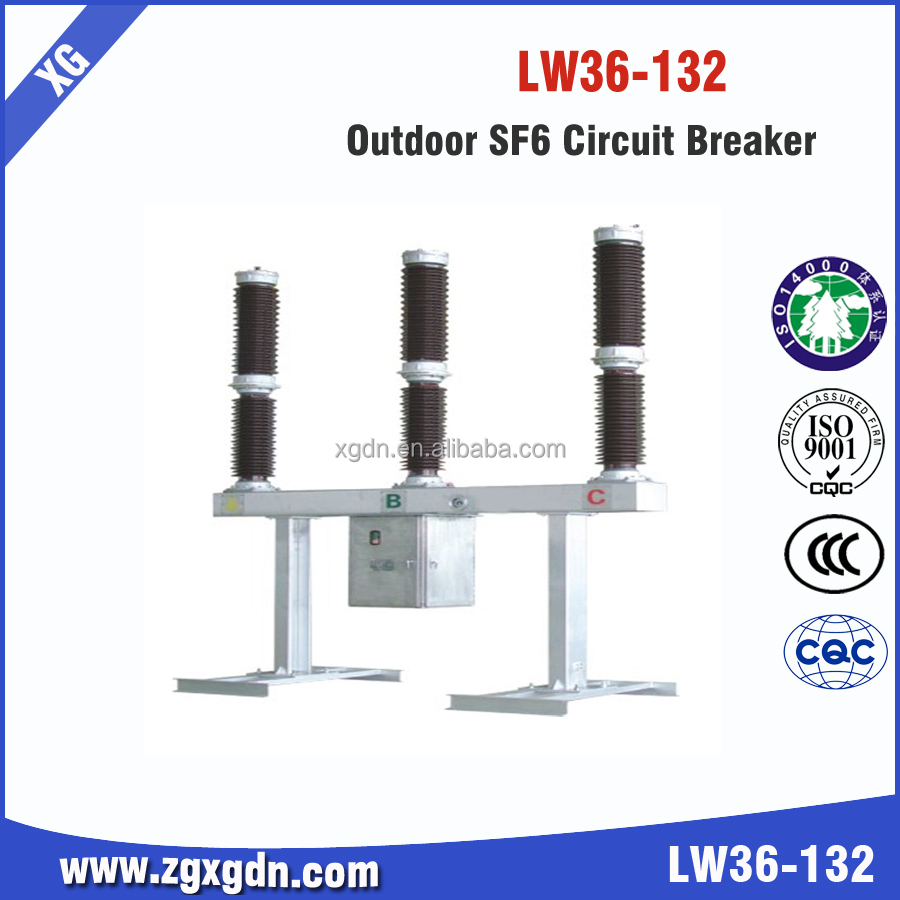 Lw36 Series 132kv Sf6 High Voltage Circuit Breakers Manufacturer
