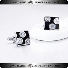 2017 Fashion Square shape Circle pattern Exquisite Cuff links
