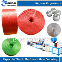 PP split film yarn twine rope making machine/plastic raffia string