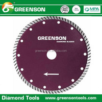 best selling fast cutting continuous rim turbo diamond saw blade with reasonable price