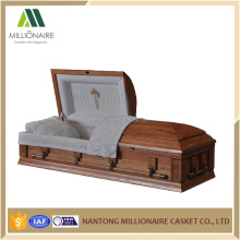 Hot selling cheap solid wood casket with factory price