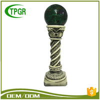 Resin crafts,pillars type and column shape,lighted roman pillars home decoration