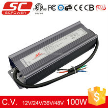 Triac dimmable 100W LED driver 36V waterproof electronics led driver pass CE ETL