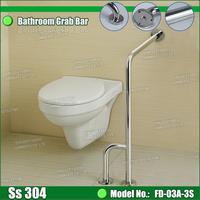 Hospital bathroom 304 stainless steel handrail grab bar for elderly