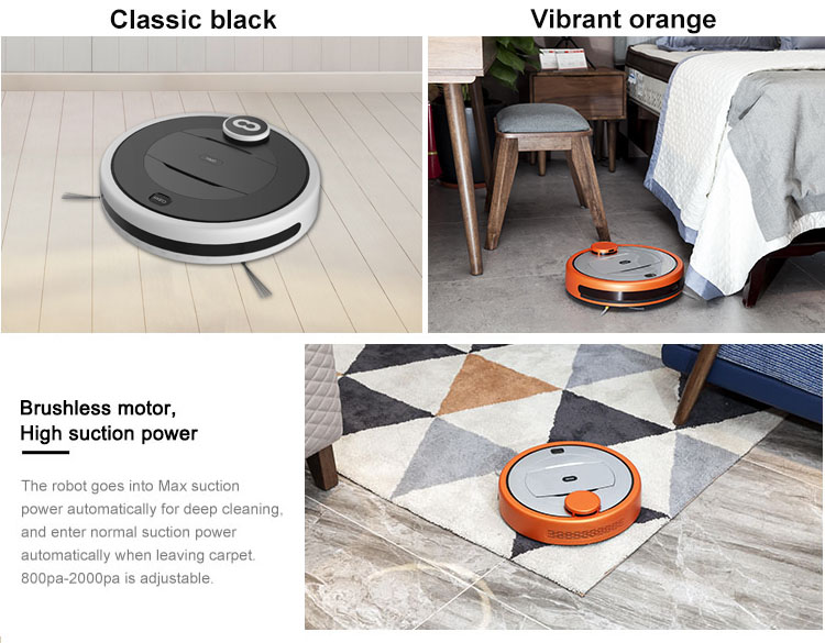 ODM Automatic charging WiFi control Smart house Vacuum Cleaner Robot With 2600mah Li-ion Battery