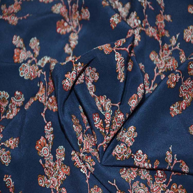 Silk Digital Print 100% pure silk crepe de chine fabric for Dress