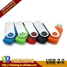 Factory Price 16GB Plastic Swivel USB Pendrive Flash Memory Key Customized Logo