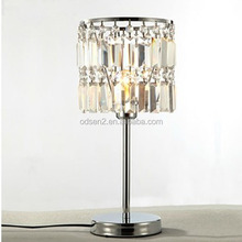luxury crystal gun table lamp for home decor