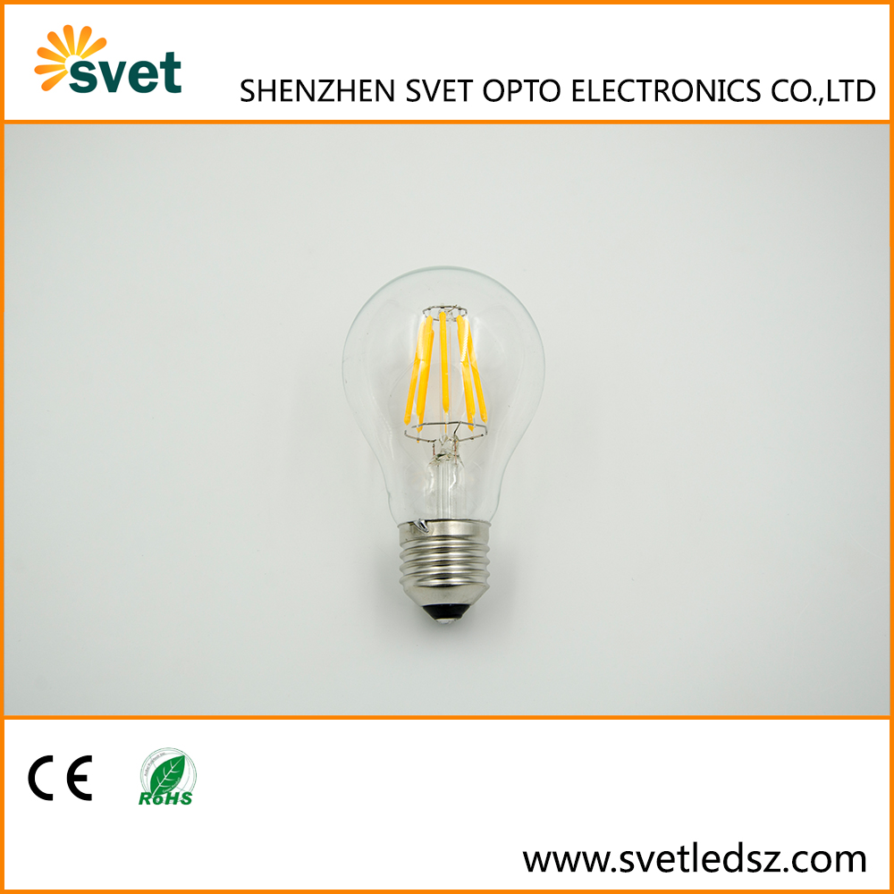Shenzhen Led Bulbs for Household A60 C35 F35 G45 8W E27 Home Lamp LED Filament Light Bulb