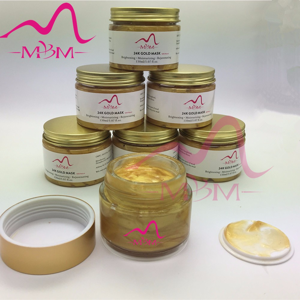 MBM hot sale 99.7% natural private label 24 k gold facial mask