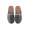 High Qulity design fashion custom made slippers Full Grain Leather Indoor Scuff Slipper