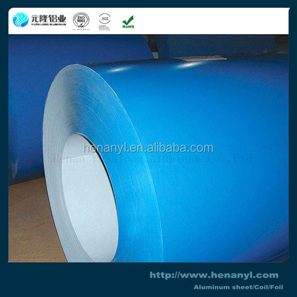 3005 3105 color coated two sides painted aluminum coil for building decoration