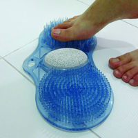 3 in 1 bath foot cleaner/scrubber with pumice