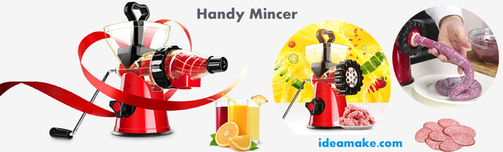 Handy Meat Mincer Handy Juicer with Home use Sausage Filler new food processor