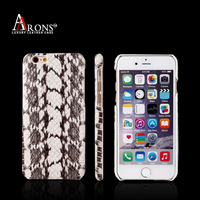 New style python skin phone back cover leather case for iphone 6