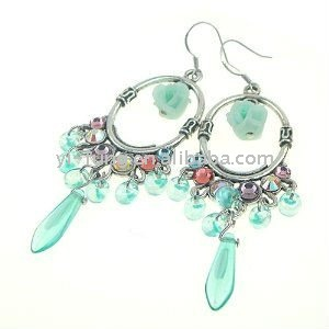 Victorian Color Drops Earrings (Green)