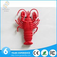 Customized 1gb 2gb 4gb personalized shrimp /prawn/ lobster usb flash drive