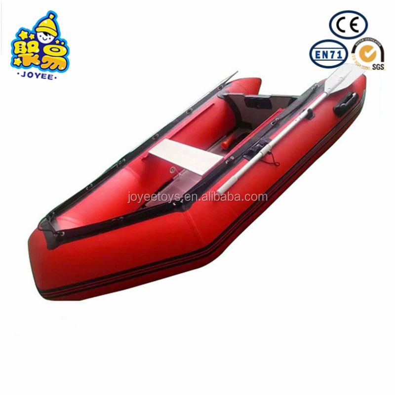 Aluminum floor v bottom pvc inflatable boat with deep v inflatable keel speed boat