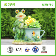 "8""Interior Manual Garden Frog Planter"