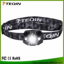 factory directly selling elastic band rechargeable led headlamp