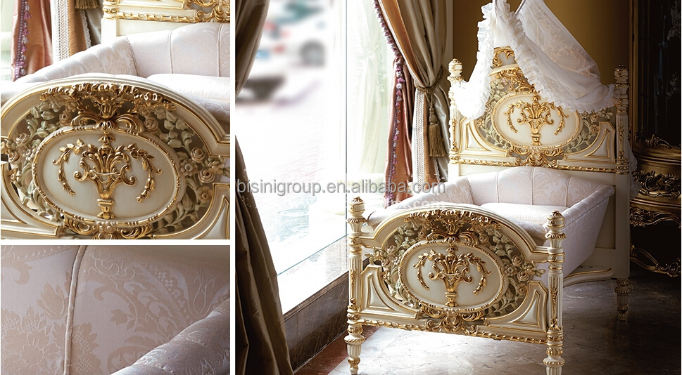 Luxury Royal Wooden Baby Crib, European Style New Born Baby Bed, Hand carved Baby Cradle Baby Hammock - BF07-70223