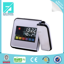 Fupu Cheap Digital LCD Screen LED Projector Alarm Clock Mini Desktop Multi-function Weather Station