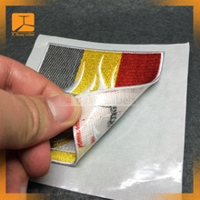 Custom self adhesive fabric patch for T-shirt