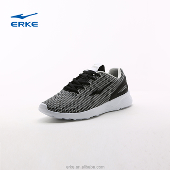 ERKE 2017 mens summer mesh upper breathable & lightweight running shoes for man lace up casual shoes