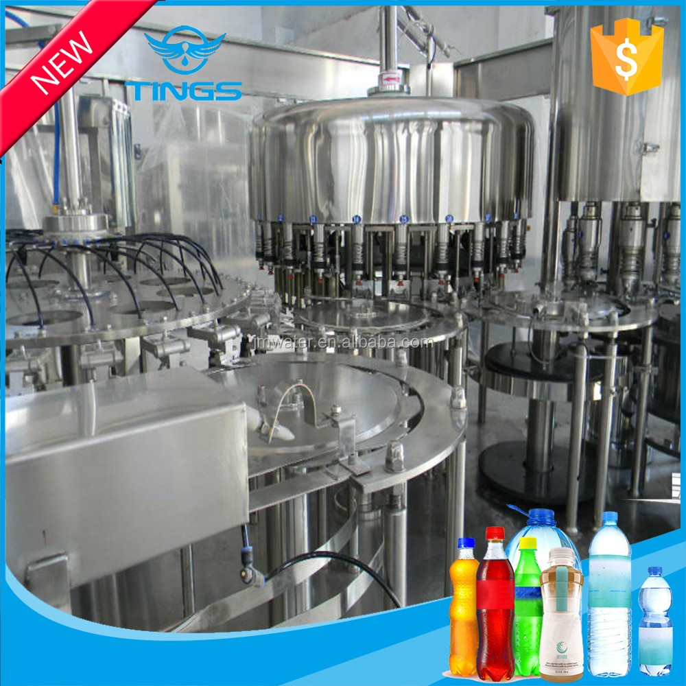 Automatic 3 in 1 mineral pure water/ beverage small bottle filling machine