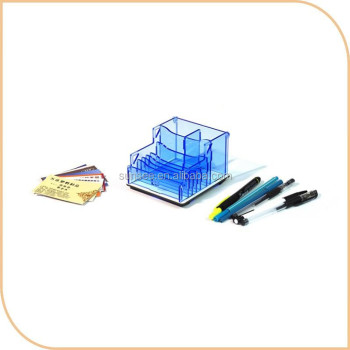 flat packing pencil case/acrylic stationary organizer