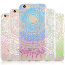 Henna Flower Paisley Transparent Cover Phone Case for iPhone SE 5 6s Plus 7 7 plus