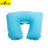 13031 Flocked personalized inflatable funny travel neck pillow