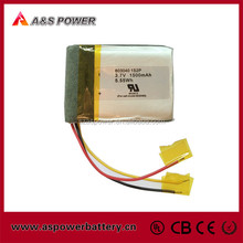 MSDS Certificate Battery P603040 1S2P 3.7V 1500mAh Lithium Polymer Battery