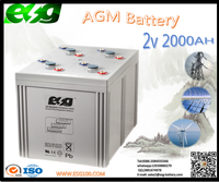 Hot-Selling High Capacity Long Life battery 2v2000ah Telecom battery