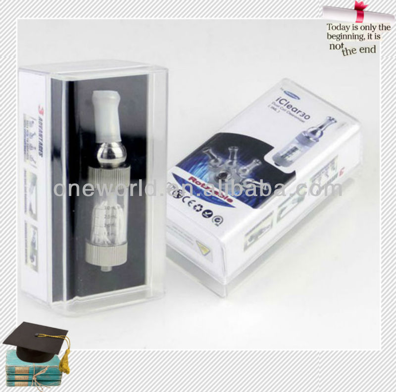 2013 Wholesale iClear 30 ce4 atomizer Tank Dual Coil 3.0ml