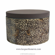 Vietnamese handmade eggshell inlaid lacquer storage boxes, high quality, direct supply from Ha Thai lacquer factory