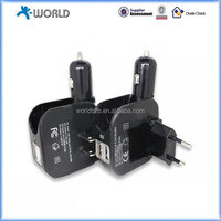 Dual USB 2-in-1 Home/Car Charger for iPhone 3G/3GS/4/4S/5, iPad