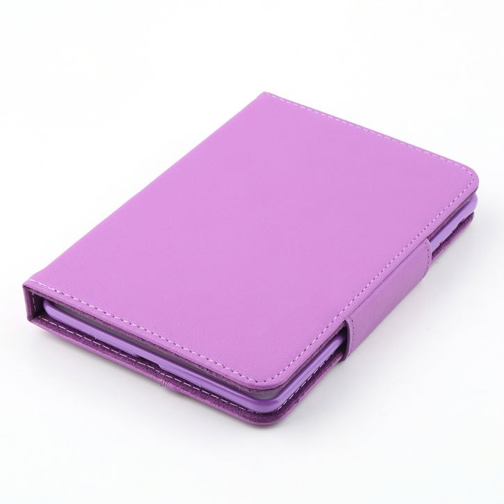 Flip Leather Case For iPad Mini Stand PU Leather Case Cover With Removable Bluetooth Keyboard