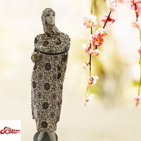 High Quality Floral Printing Fashion Ladies' Polyester Arab Robe For Spring, Summer, Autumn