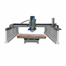 Hot double heads used granite bridge saw cnc router stone cutting machine