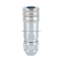 DeviceNet M12 5Pin Female Connector Field Wireable Installable Plug Screw Termination