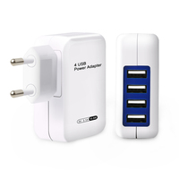 20W wall charger high quality CE ROHS FCC portable 1,2,3,4 port usb EU UK US plug charger