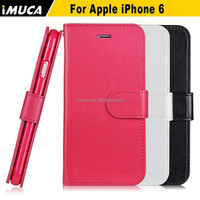 Phone case for Apple iPhone 6 wallet leather flip case, with card holder