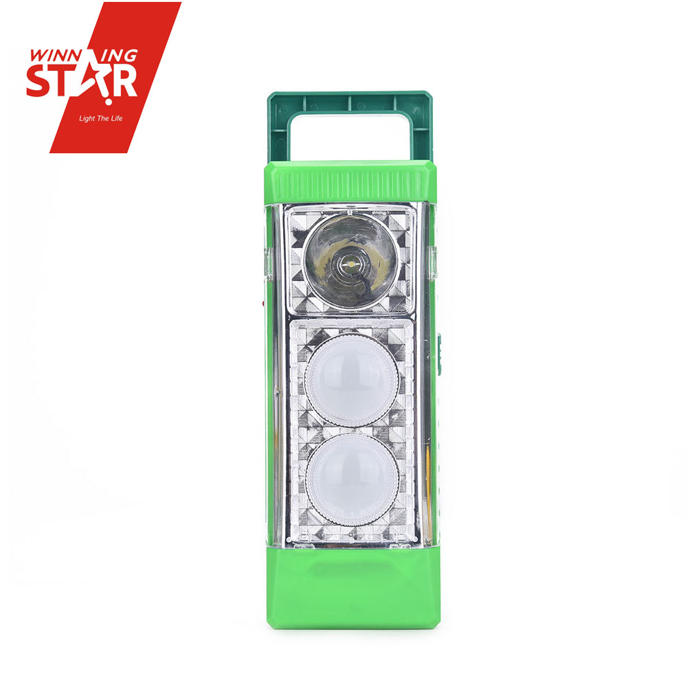Portable solar emergency light use dry battery emergency light 2 bubble lamp solar led emergency light