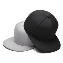 Custom simple plain 6 panel 100% acrylic <strong>flat</strong> brim blank snapback cap