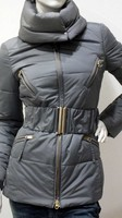 Jacket Padded with Belt Slim Double Slider Woman MADE IN ITALY
